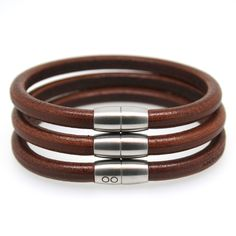 Christmas #HTFSTYLE.  GIVE.  Men's pan leather bracelets in brown from hardtofind.com.au