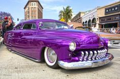 Mercury lead sled from the George Barris Cruisin' Back to the Car Show Retro Cars, Vintage Cars, Old American Cars, Cool Old Cars, Mercury Cars, Ford Classic Cars, Lead Sled, Futuristic Cars, Us Cars
