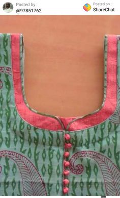 Best 12 How to make different types of kurthi neck patterns – Simple Craft Ideas – SkillOfKing. Blouse Back Neck Designs, Chudithar Neck Designs, Salwar Neck Designs, Churidar Designs, Kurta Neck Design, Neck Designs For Suits, Sleeves Designs For Dresses, Neckline Designs, Sleeve Designs