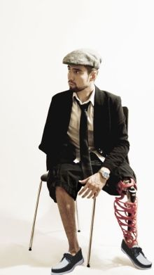 For the amputee who has everything but two legs: designer prosthetic covers! Very very cool!
