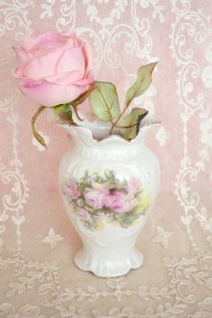Beautiful Small Antique Floral Vase