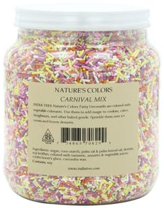 India Tree Nature's Colors Sprinkles, Carnival Mix, 2.9-Pound: Amazon.com: Grocery & Gourmet Food
