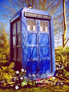 In Amy and Rory's back yard there will always be a little patch in the garden, perfectly sized for Tardis landings...