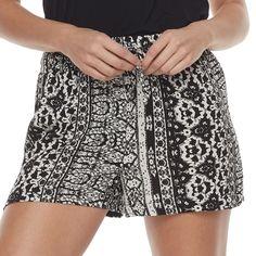 Juniors' Joe B Print Soft Shorts, Teens, Size: Medium, Oxford