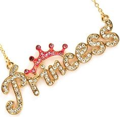 Adorable Gold Plated Bling Lettered Necklace Topped with Pink Crystal Crown Necklaces by Glamour Girl Gifts Cute Baby Couple, Happy Birthday Wishes Quotes, Stylish Alphabets, Letter Photography, Alphabet Wallpaper, Accesorios Casual, Monogram Jewelry, Stylish Girl Images, Crystal Crown
