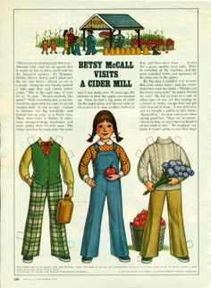 Vintage September 1979 Magazine Paper Doll Betsy McCall Visits a Cider Mill