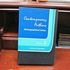 Contemporary Authors Bibliographical Series American Dramatists Vol. 3, 1989 Editor Mattthew C. Roudane