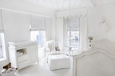Ivanka Trump's All White Nursery - so elegant and serene!