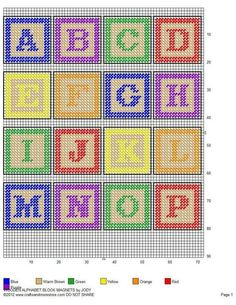 Today we try to round up photos related with best Plastic Canvas Baby Blocks Pattern inspiration, perfect ABC Plastic Canvas Block Pattern reference and inspiring Plastic Canvas Baby Blocks model to complete your inspirations. Plastic Canvas Letters, Plastic Canvas Stitches, Plastic Canvas Christmas, Plastic Canvas Crafts, Cross Stitch Letters, Cross Stitch Baby, Cross Stitching, Cross Stitch Embroidery, Cross Stitch Designs