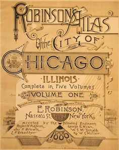 Robinson's Atlas of the City of Chicago