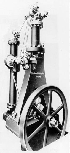 The First Diesel Engine of 1897 invented by Rudolf Diesel. It changed the world because it worked for trains, cars, and boats.