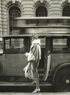 """Clothes and the Car at the Theatre"", photo by Cecil Beaton for Vogue, 1927."