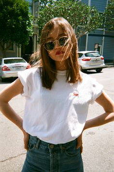 """Restocking soon! Email hello@lisasaysgah.com to get on the waitlist.Embroidered """"Lover"""" t-shirt. ..."""