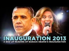 A Bad Lip Reading of Barack Obama's Inauguration the beyonce part gets me everytime. the guy behind her and his facial expression makes it seem like she' Prank Videos, Videos Funny, You Funny, Hilarious, Funny Stuff, Vintage Funny Quotes, Beyonce Songs, Sounds Good To Me, Funny Messages