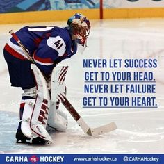 We are dedicated to servicing the adult recreational and oldtimers hockey community in Canada. We strive to develop and deliver hockey resources that assist team, league and tournament organizers across Canada and around the world. Hockey Goalie, Field Hockey, Hockey Players, Hockey Coach, Goalie Quotes, Sport Quotes, Montreal Canadiens, Irina Shayk, Quotes Girlfriend