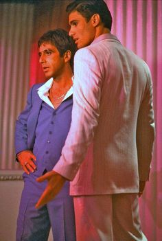 Al Pacino as 'Tony Montana' & Steven Bauer as 'Manny Ribera' in Scarface (1983)