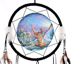 Decorative Native American Catching Dreams 34cm Dreamcatcher Dreamcatchers are a great way to add colour and design to your home or workplace Made