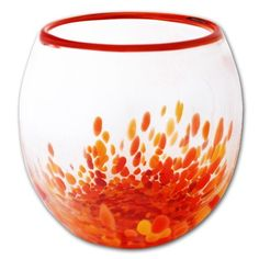 colorful blow glass bowls -