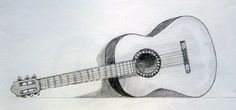 Easy Pencil Drawings Of Guitar