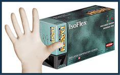 IsoFlex: latex, powder-free, smooth grip, 5 mil thick Latex Gloves, Sensitivity, Dental, Powder, Surface, Smooth, Medical, Feelings, Fit