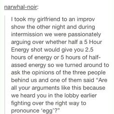 This is what all fights in a relationship should be like! Is that too much to ask?!?!?!