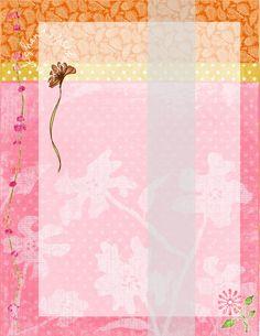 blank pink yellow orange handout/invite