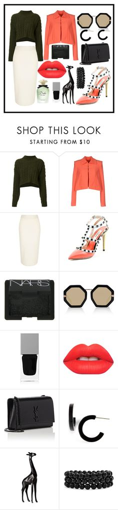 """Untitled #110"" by asena-cakmak on Polyvore featuring Vivienne Westwood Anglomania, Alex Vidal, River Island, NARS Cosmetics, Karen Walker, Givenchy, Lime Crime, Yves Saint Laurent, L. Erickson and Torre & Tagus"