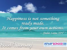 Don't expect happiness to come gift-wrapped. True happiness is something we work hard for. Good morning!