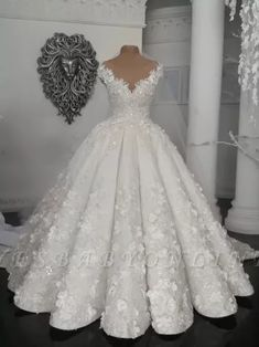 Gorgeous Ball Gown Wedding Dresses UK Off-the-Shoulder Floral Beads Bridal Gowns Princess Wedding Dresses, Dream Wedding Dresses, Bridal Dresses, Bridesmaid Dresses, Gown Wedding, Tulle Wedding, Floral Wedding, Beautiful Gowns, Beautiful Bride