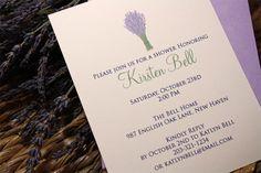 French Lavender Bouquet Invitations  Bridal by DotsAndDahlias