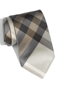 Burberry Woven Silk Tie - $145.00  I may justify buying this only because those are all my wedding colors. and its plaid.