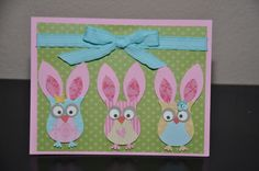 Who's A Bunny?!  Easter Bunnies made from the Stampin Up Owl punch