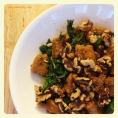 ... Butter Pumpkin Gnocchi With Kale and Sweet and Spicy Candied Walnuts