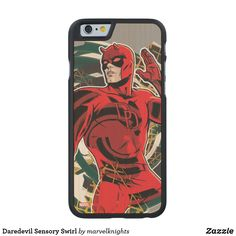 Daredevil Sensory Swirl OtterBox iPhone Plus Case. Bright and cool Marvel Daredevil superhero designs to personalize as a gift for yourself, friends and families. Perfect unique gifts for your all birthdays needs. Iphone 6 Plus Case, Iphone Cases, Iphone 8, Comic Book Heroes, Comic Books, Ipod Touch 5th Generation, Superhero Design, Daredevil, Ipad Mini