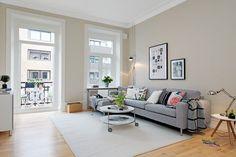 Scandinavian apartment with cream walls - 10