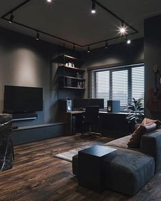 Cozy Small Living Room Decor Ideas For Your Apartment - Living Room - lmolnar - Best Design and Decoration You Need Design Loft, Loft Interior Design, Home Office Design, Home Design, Home Office Setup, Design Ideas, Design Homes, Modern Design, Modern Man