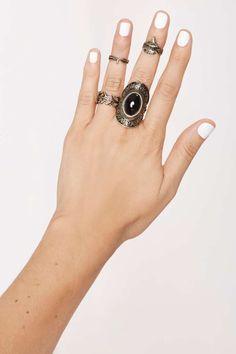 Midnight Wanderer Ring Set//
