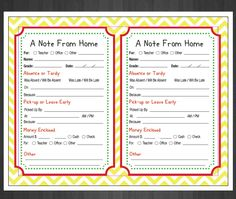 Back to school printables for your home management binder.