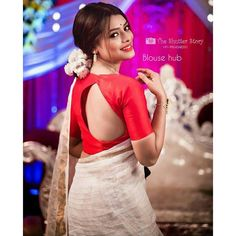 Shop for a variety of blouses in high neck, sleeveless, boat neck, sleeveless, embroidered & more online. Blouse Back Neck Designs, Fancy Blouse Designs, Saree Blouse Designs, Sari Blouse, Blouse Styles, Wedding Saree Collection, Stylish Blouse Design, Fancy Sarees, Beautiful Blouses