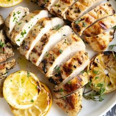 Bring all the classic Greek flavors to your kitchen table with this easy and delicious Greek Chicken Marinade. Made with lemon, garlic, and fresh herbs, this Citrus Chicken Marinade, Greek Marinated Chicken, Baked Greek Chicken, Grilled Chicken, Greek Chicken Marinades, Chicken Marinate, Roast Chicken, Keto Chicken, Shredded Chicken