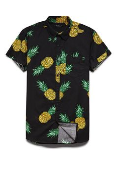 Pineapple Print Cotton Shirt | 21 MEN #F21Spring #21Men