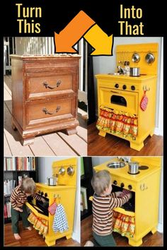 How To Repurpose a Dresser Without Drawers – 9 DIY Repurposed Dressers Makeover Ideas – Involvery – ✅ Jennifer's Easy DIY – Thrift Store Crafts Diy Furniture Decor, Repurposed Furniture, Baby Furniture, Handmade Furniture, Furniture Makeover, Dresser Furniture, Furniture For Kids, Diy Furniture Repurpose, Diy Kids Furniture