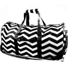 Retro Wavey Chevrons Sports Bag