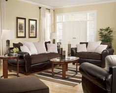 Voltage Chocolate Living Room Set By Signature Design By Ashley. $1030.00.  With The Thick