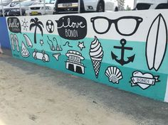 Graffiti Art along Bondi Beach