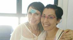 Me encanta poder crear sonrisas, incluída la mía propia, con mi trabajo❤ // I love creating smiles, including my own, with my job💕🌌 #rainbowgirlbcn #lotus #flordeloto #facepainting #maquillajefantasia #pintacaras #smile #sonríe #lovemyjob #yoga #love