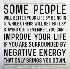 Get rid of negative energy