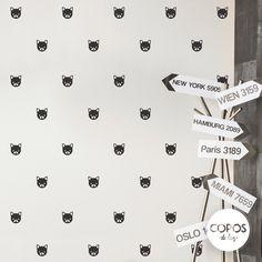 Vinilos decorativos con forma de Perritos Pugs (Bulldog frances) #vinilos #decorativos #infantiles #trama #deco #decoracion #vinilodecorte #corte #pared #pugs #perritos #bulldog