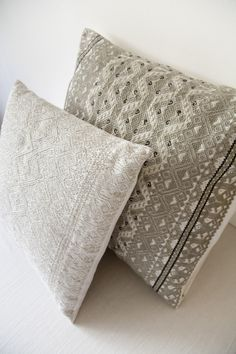 Sna Jolobil hand woven and brocaded cotton pillows co-designed with Sofia Ballesteros
