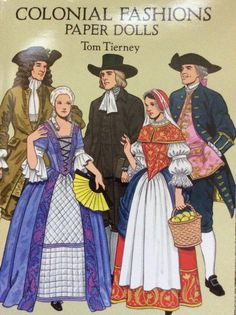 Tom Tierney Colonial Fashions Paper Dolls by Lonestarblondie on Etsy